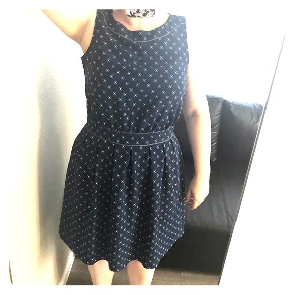 7e5b50f02a345 Tommy Hilfiger Blue Geometric Print Dress
